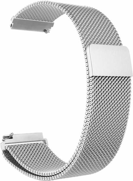 TECHWIND 22MM WATCH STRAP FOR GEAR S3 FRONTIER/ S3 CLASSIC/FITBIT VERSA/AMAZFIT GTR/MANY OTHER 22 MM WATCHES (METAL SILVER) Smart Watch Strap