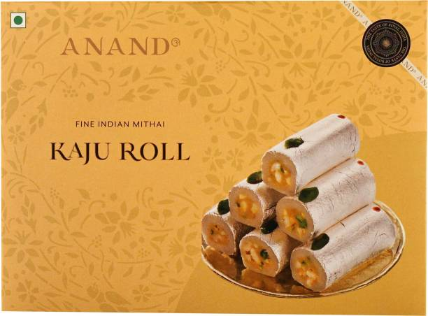 Anand Sweets Kaju Roll with Layers of Pulped Genuine Cashew and Nutty Chunks Box