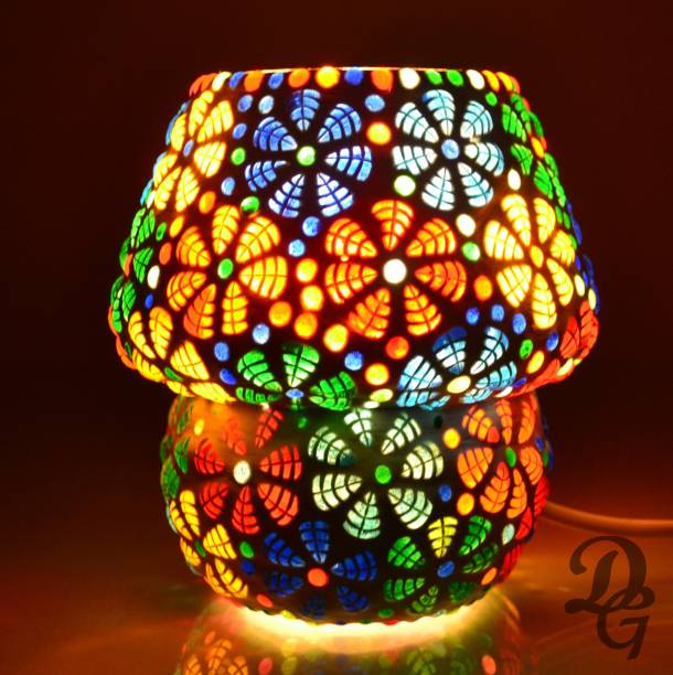 Decent Glass Multi Color Beautiful Mosaic Table Lamp For Bed Side Handicrafted Glass Lamp13CM Night Lamp