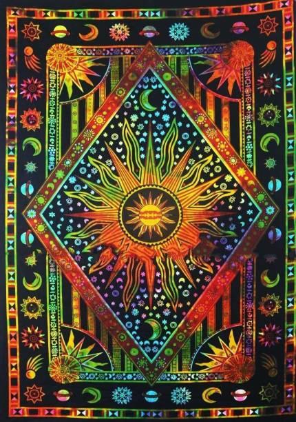Art World Seven Chakra Yoga Meditation Studio Tapestry