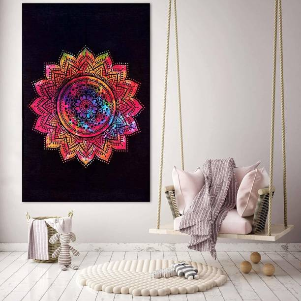 Art World Ombre Mandala Tapestry Poster Psychedelic Boho Tie Dye Printed Wall Hanging Decoration Size 40x30 Ombre Mandala Tapestry Tapestry