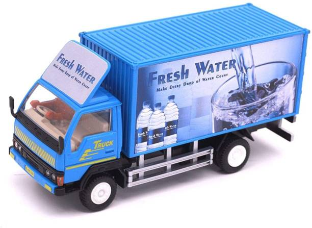 Jack Royal Automobile Miniatures Panther Truck Container Series - Fresh Water Pull Back Action Truck