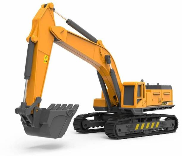 ATRI Construction LongCraneExcavatorTrucks Rotate by 360 Degree JCB Toy Loader JCB Toy and Excavator Vehicle Engineering Toy for 3 Years and Above Age Toddlers ,High Speed Friction Excavator toy for boys toy for kids toy for children push and pull along toy toy cars and trucks