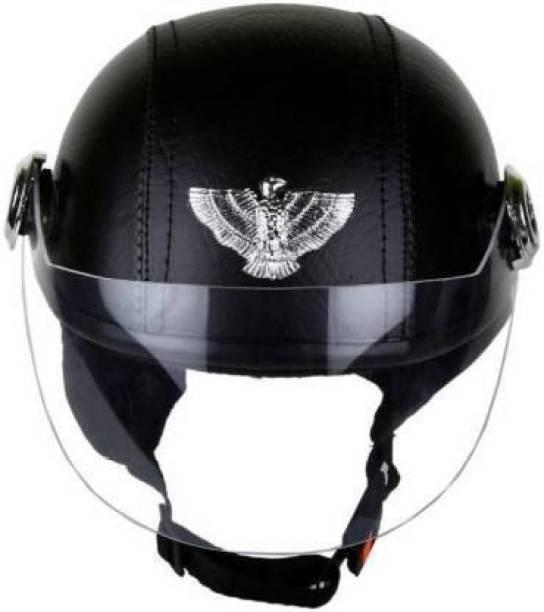 Friends Mart leather CAP Motorbike Helmet