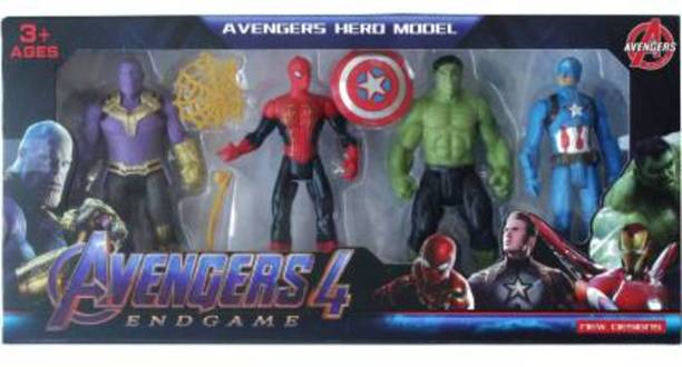 ClueSteps 4 Action Figures Avengcrs E N D G A M E Super Heroes Multiple Styles Multiple Play Action Figures Toy for Kids