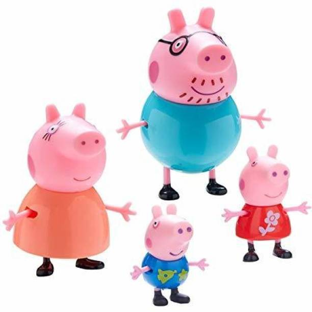 shubhcollection Pig Family Toy, Set of 4 , Action Figure ,Original Animated Toys for Children