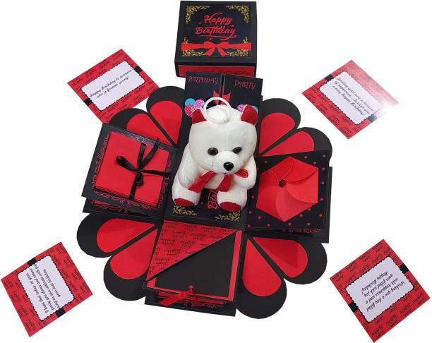 Easycraftz Ultimate Birthday Explosion Box with Teddy Greeting Card