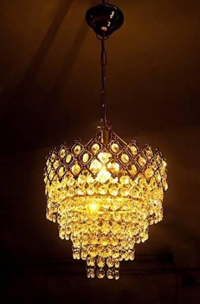 KARTAVYA TRADERS KB Traders Golden Ceiling Jhoomar/Chandelier light. Size 260 MM Chandelier Ceiling Lamp