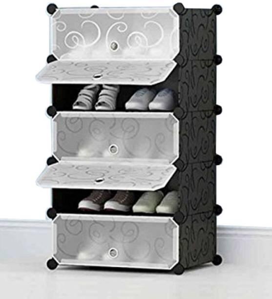 Sasimo 5-Door 5-Shelf Plastic Collapsible PP Collapsible Wardrobe