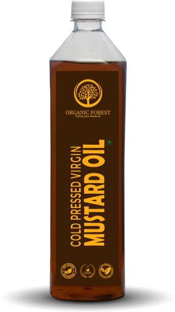 organic forest Cold Pressed Mustard / sarso Oil, 1 L Mustard Oil Plastic Bottle