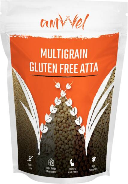 Amwel Multigrain Gluten Free Atta - Pack of Two [1kg x 2 units = 2kg]