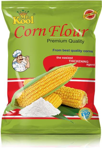 Mr.Kool Pure and 100% Natural Makki Atta Corn Flour 1kg(Maize Starch)