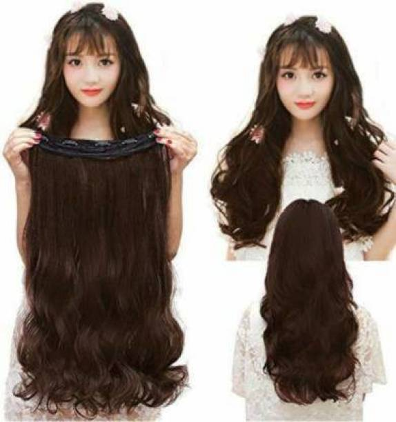 PEMA Clip in wavy natural brown Hair Extension