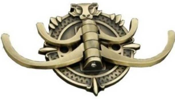 EYE BERRY LION 4 in One Brass Antique Movable Belt, Cloth, Purse, Robe, Coat OR Hanger Swivel Hook