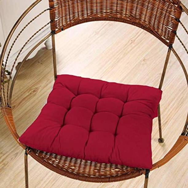 AP Linens Chair Cushion Microfibre Solid Chair Pad Pack of 1