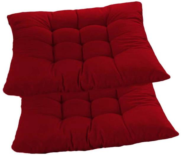 AP Linens Chair Cushion Microfibre Solid Chair Pad Pack of 2