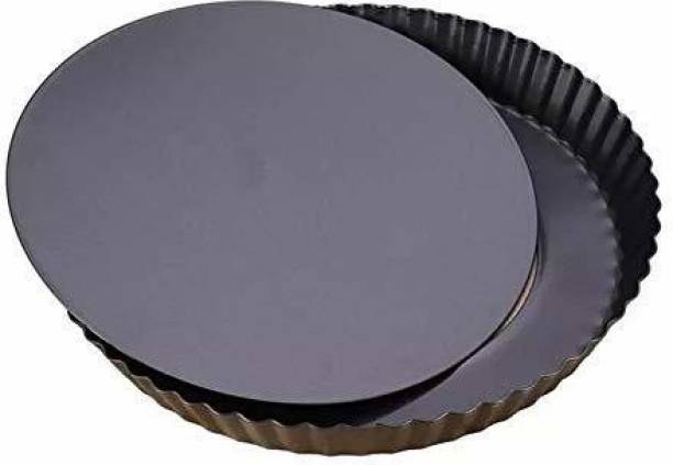 Skywalk Stainless Steel Non Stick Bakeware/Carbon Steel Pizza Pan - 1 Piece, Black Pizza Maker