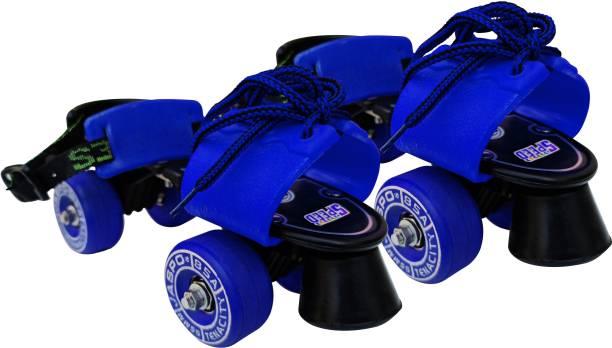 Jaspo Tenacity Lite Rubber Wheel Adjustable Quad Roller Skate (6-14 years) Quad Roller Skates - Size 1-8 UK