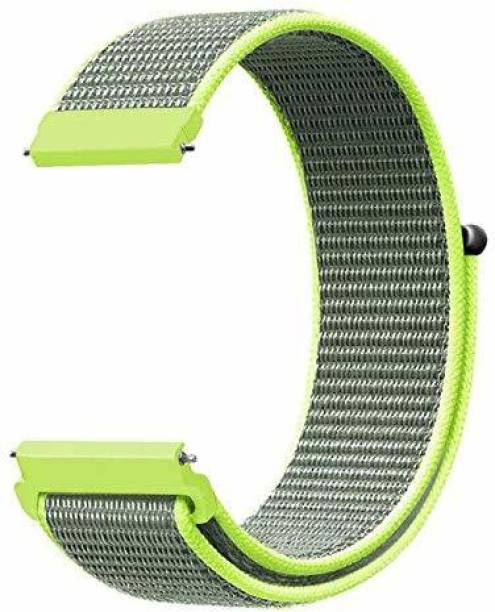 gettechgo Soft Nylon 20mm Band Strap Compatible with Samsung Galaxy Watch 3 41mm, Galaxy 42mm, Galaxy Active 40mm, Active 2 (40-44mm) / AmazeFit BIP/BIP Lite/AmazeFit GTS, Amazefit GTR (42mm) / VivoActive 3 / RealMe Classic, Fashion & Smartwatches with 20mm Lugs (Flash) Smart Watch Strap