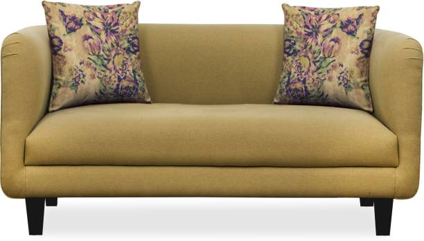 Febonic NIKI MUSTARD YELLOW Fabric 3 Seater  Sofa