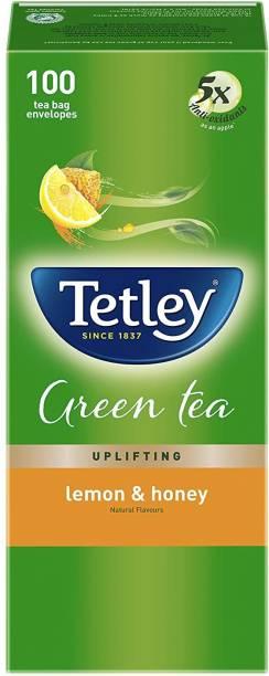 tetley Honey Lemon Flavour Green Tea 100 Tea Bags Honey, Lemon Green Tea Bags Box