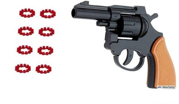 VR Creatives Kids Toy Cap Pistol (Ring Caps) 72 / 8 Ring Shots Diwali Gift Diwali Gun