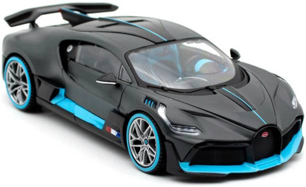 Learn With Fun 1:32 Scale Die-cast Metal Model Bugatti Divo Sport Pull Back Car Toy with Openable Doors, Light and Sound Effects for Boys Girls Kids
