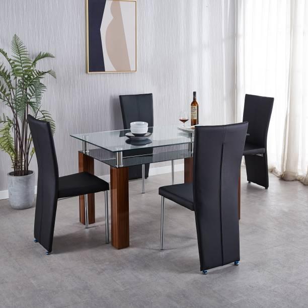 KRIJEN Aspire Engineered Wood 4 Seater Dining Set