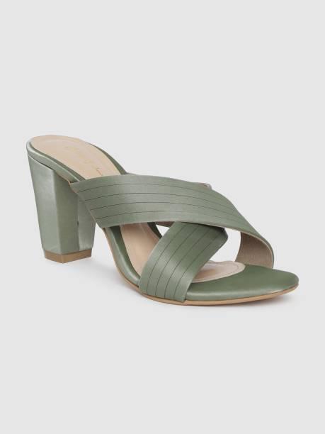MAST & HARBOUR Women Green Heels