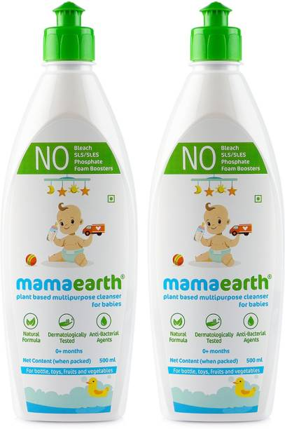 MamaEarth Plant-Based Multi Purpose Cleanser For Babies - PACK OF 2 (500ML X2)