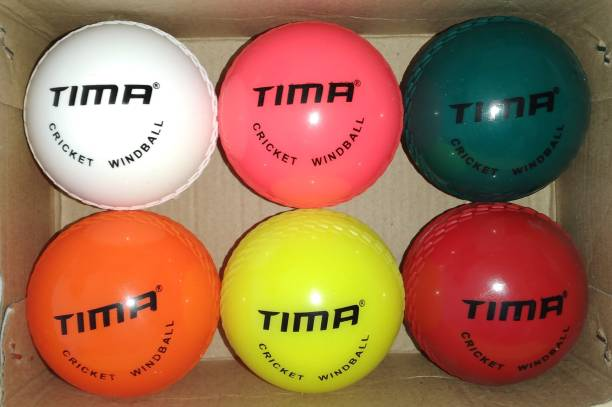 TIMA Cricket Windball Training Cricket Ball (Pack of 6) Cricket Tennis Ball