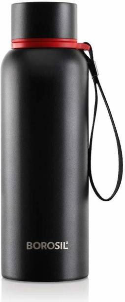BOROSIL Stainless Steel Hydra Trek - Vacuum Insulated Flask Water bottle, Metallic 700 ml Bottle