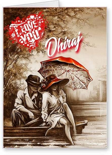 Midas Craft I Love You Dhiraj ….02 Gift Romantic Message Greeting Card