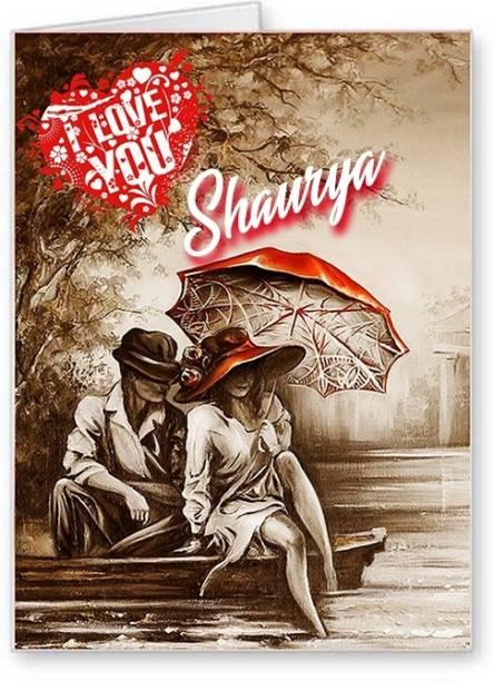 Midas Craft I Love You Shaurya ….02 Gift Romantic Message Greeting Card