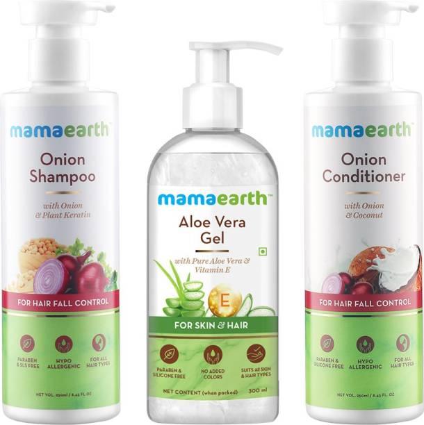 MamaEarth Onion & Aloe Stronger Hair Kit