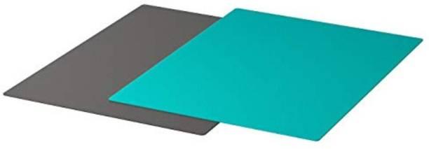"IKEA Bendable Chopping Board, Dark Grey, Dark Turquoise, 28x36 cm (11x14 ¼"") Polypropylene, Plastic Cutting Mat"