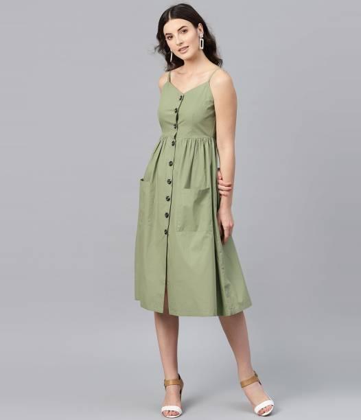SASSAFRAS Women Shirt Green Dress