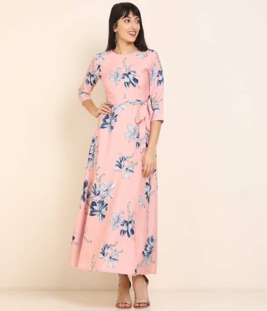 Tokyo Talkies Women Maxi Pink Dress