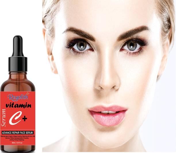 Regolith Vitamin C - Skin Clearing Serum - Brightening, Anti-Aging Skin Repair, Supercharged Face Serum, Dark Circle, Fine Line & Sun Damage Corrector, Genuine 20%, Glass Bottle