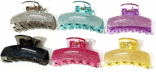 AmazingKarts Fancy Hair Clutches for Women/Girls Pack of 6 pcs -Multi-Colour Hair Clip