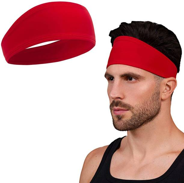 BISMAADH Mens Headband - Running Sweat Head Bands for Sports - Athletic Sweatbands for Workout/Exercise, Tennis & Football - Ultimate Performance Stretch & Moisture Wicking Head Band