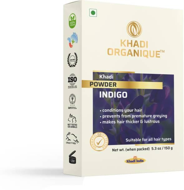 khadi ORGANIQUE 100 % Pure Indigo Powder for Hair