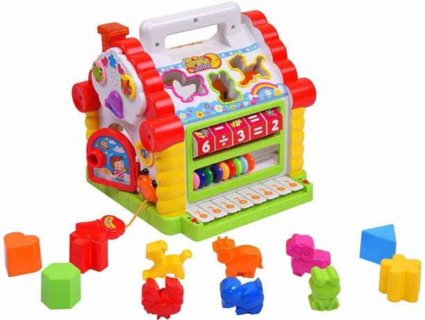 Smartcraft Colorful and Attractive Funny Cottage Educational Toy, Learning House - Baby Birthday Gift for 2 3 Year Old Boy Girl Child - Multicolor( Battery Included)