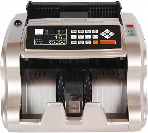 Drop2Kart Mix Value Money Counter with UV/MG/MT/IR CIS Image Sensors, Six Operation Modes, External Display for Business and Bank Note Counting Machine