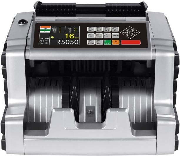 Drop2Kart Fully Upgraded Cash Counter - Automatic Mix Value Counting, LCD+LED Display, UV/MG/MT/IR CMOS Image Sensors, 1-Yr. After Sales Service Note Counting Machine