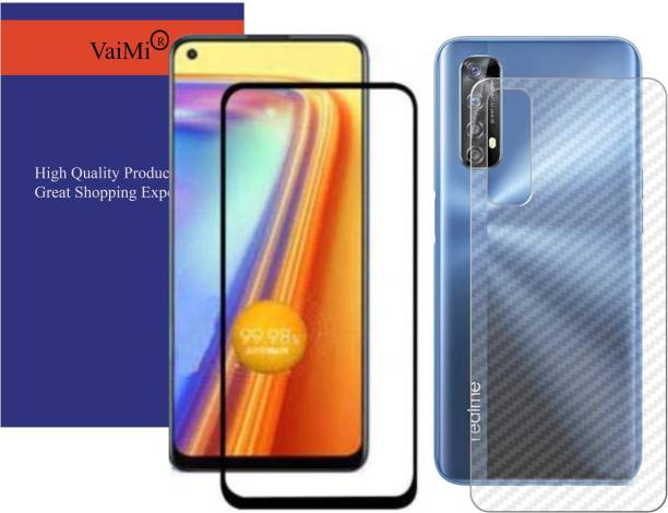 VaiMi Front and Back Tempered Glass for Realme Narzo 20 Pro, Realme 7