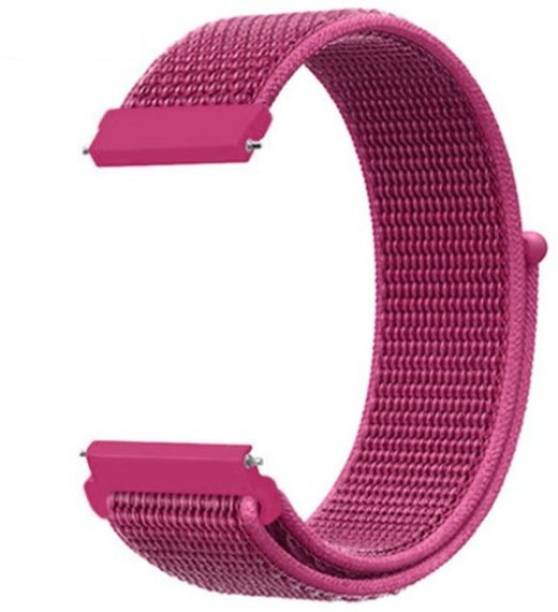 gettechgo Soft Nylon 20mm Band Strap Compatible with Samsung Galaxy Watch 3 41mm, Galaxy 42mm, Galaxy Active 40mm, Active 2 (40-44mm) / AmazeFit BIP/BIP Lite/AmazeFit GTS, Amazefit GTR (42mm) / VivoActive 3 / RealMe Classic, Fashion & Smartwatches with 20mm Lugs (Dragon Fruit) Smart Watch Strap
