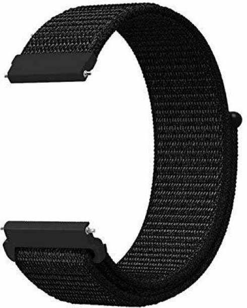 gettechgo Soft Nylon 22mm Replacement Band Strap Compatible for Galaxy Watch 3 45mm/Galaxy 46mm/Gear S3 Frontier,Classic/Amazfit Pace Stratos,Stratos+,Stratos3 /Huawei GT2 46mm/Honor Magic Watch 2 (46mm) & Smartwatch with 22mm Lugs Smart Watch Strap