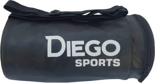 diego Sports Gym BagSide Pocket (Black, Kit Bag)