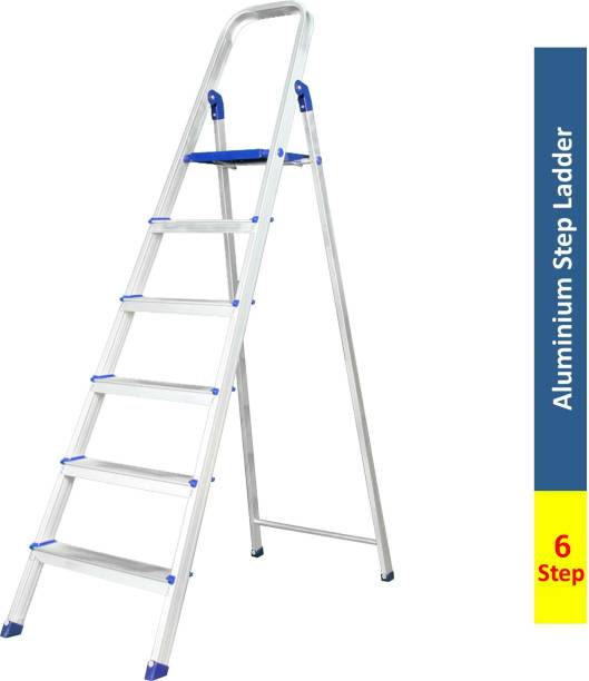 Flipkart SmartBuy 6 Step With Heavy Platform Aluminium Ladder